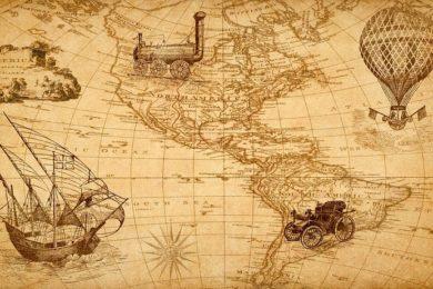 Karte für Segelschiffe