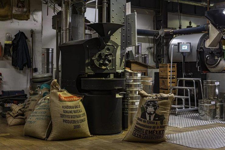 Eine Kaffeestube / Kaffeerösterei