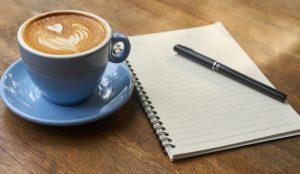 Kaffee-Rezeptblock