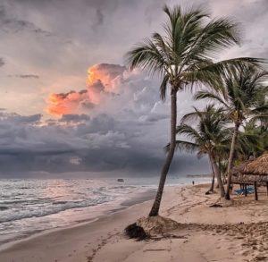 Szene am Strand